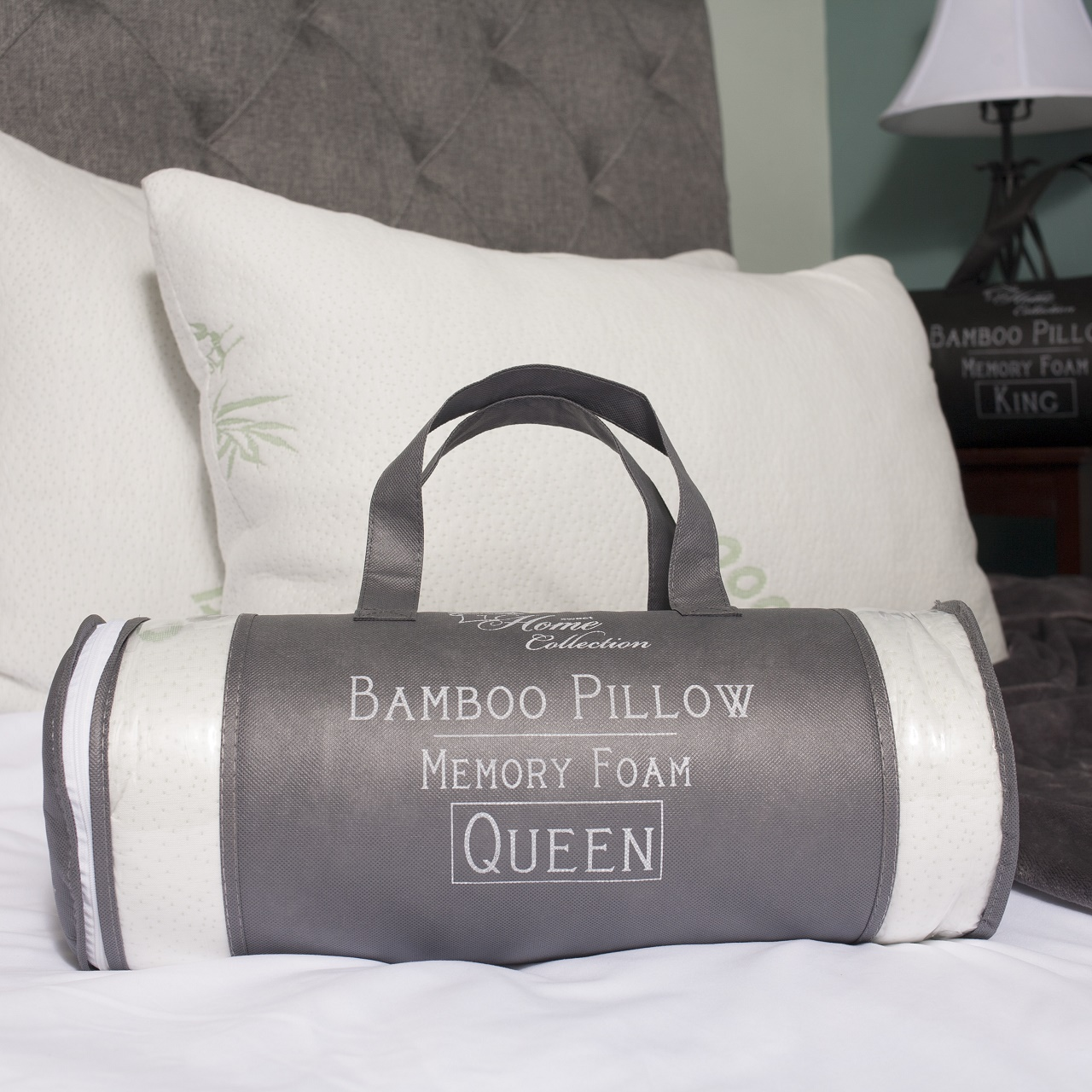 Bamboo Pillow Shredded Memory Foam by Home Comfort