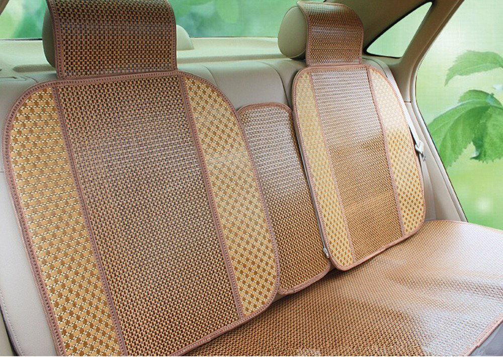 Amooca Herbal Medicine Papyrus Bamboo Spill-Proof Front Rear Car Seat Cushion Cover Picture