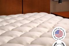 ExceptionalSheets Extra Plush Bamboo Fitted Mattress Topper jpg1