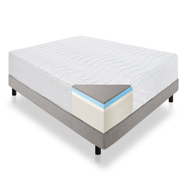 LUCID 16-Inch Plush Memory Foam Mattress with Bamboo Cover Image