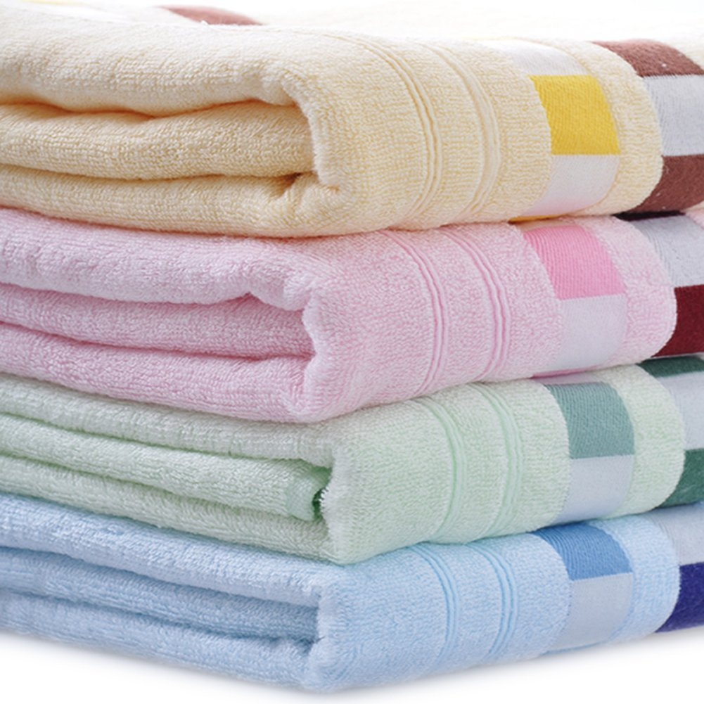Moolecole 4-pack 100% bamboo fiber extra absorbent bath towels Image