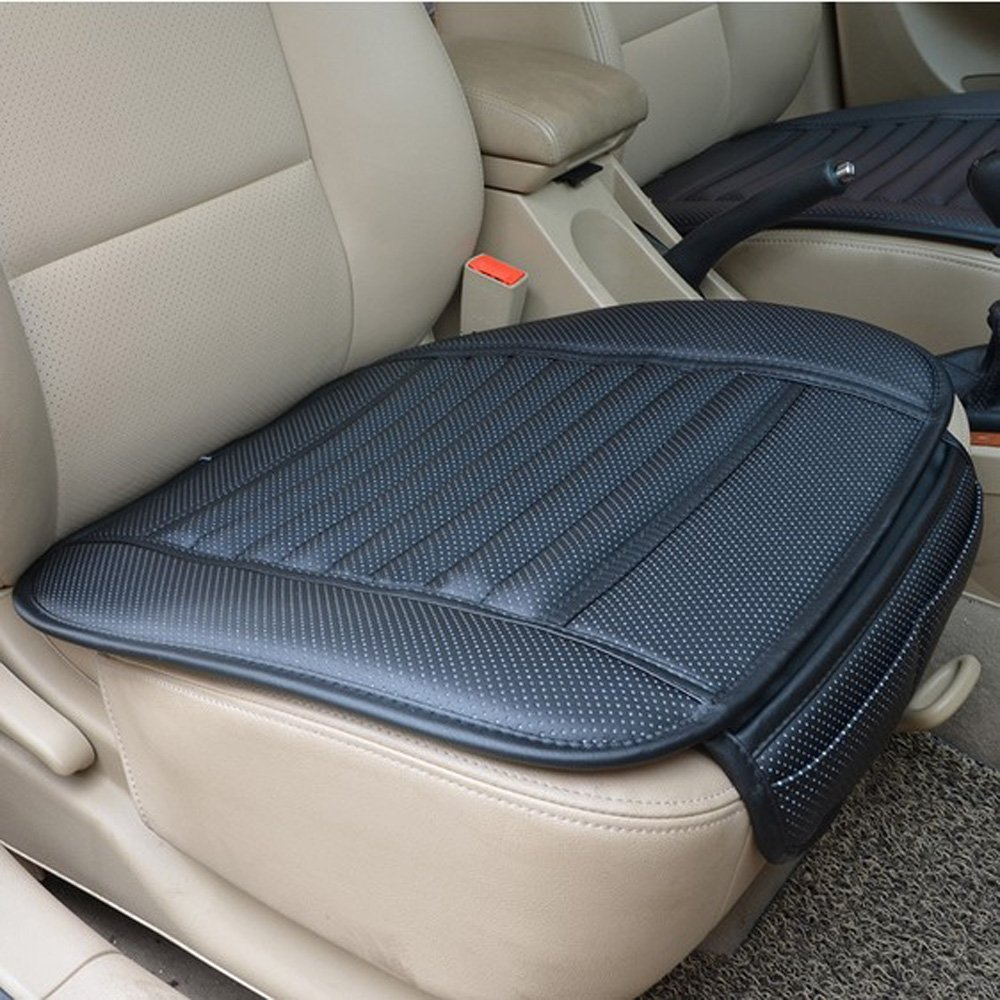 Emazon PU Leather Bamboo Charcoal Breathable Seat Cushion Cover Pad Mat Picture