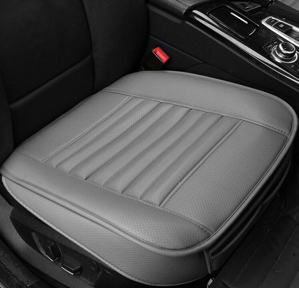 EDEALYN New Bamboo Charcoal PU Leather Soft Car Seat Cover Image