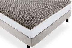 LUCID 2 Inch Bamboo Charcoal Ultra Ventilated Memory Foam Mattress Topper jpg2