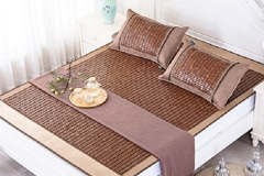Qbedding Carbonized Bamboo Summer Sleeping Mat Cooling Mattress Topper Pad jpg7