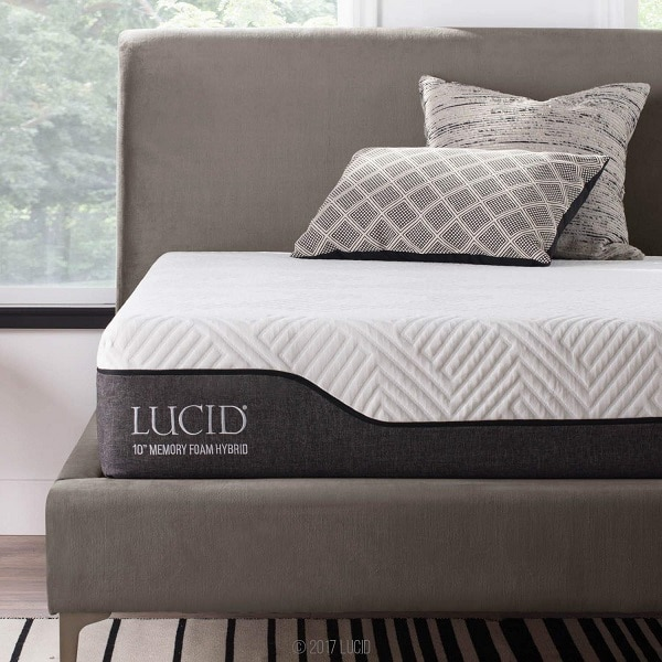 LUCID 10 Inch Twin Hybrid Mattress Image