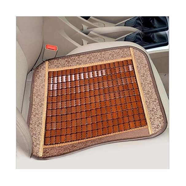 Yusylvia Car Summer Bamboo Seat Cushion Image