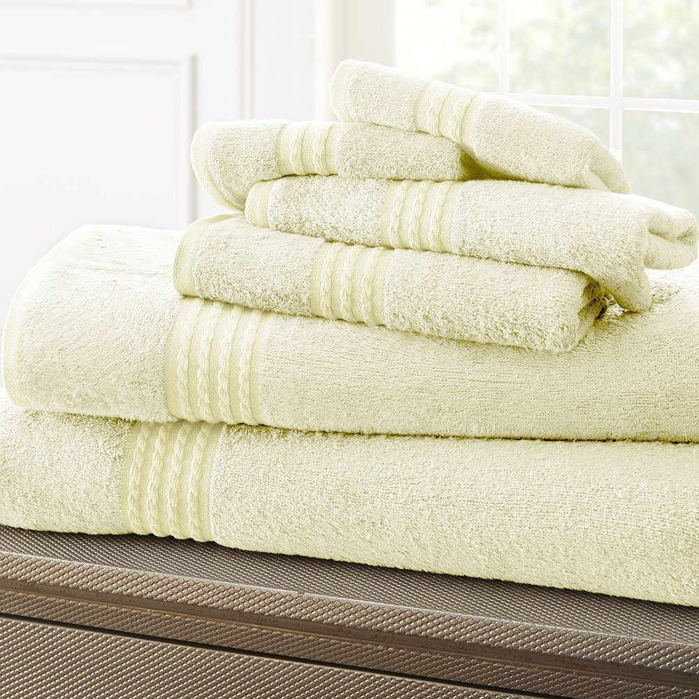 eLuxurySupply Bamboo Cotton Towel Set Image