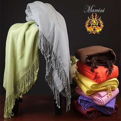 Marcini bamboo fiber cotton throw blanket Image